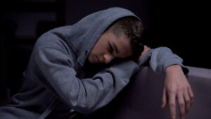 Drug addicted teenager suffering withdrawal