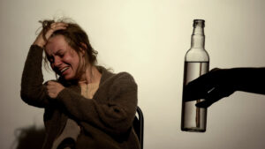 woman with alcohol addiction suffering from withdrawal