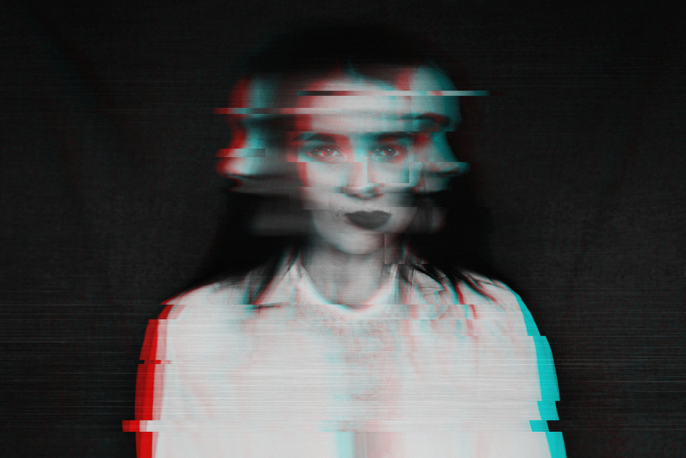 abstract image woman with schizophrenia