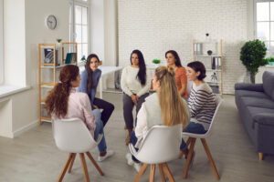 women in a dialectical behavior therapy group